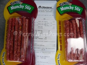 Got two Dingo Munchie Stix for just tax!