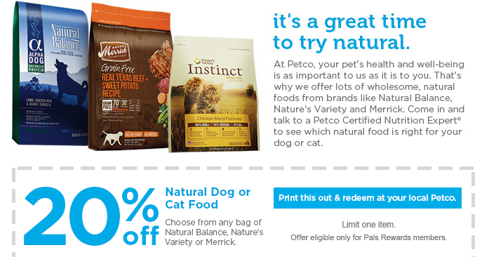 natural balance dog food coupons petco
