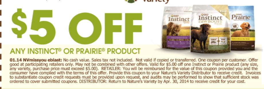 image about Printable Cat Food Coupons identify Refreshing printable coupon: 5/1 Natures Range Praerie or