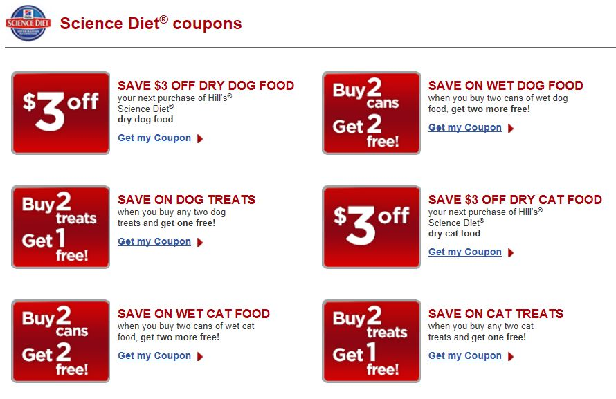 Hill`S Science Diet Dog Food Coupons - directorygala