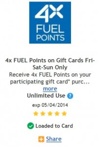 frys fuel points