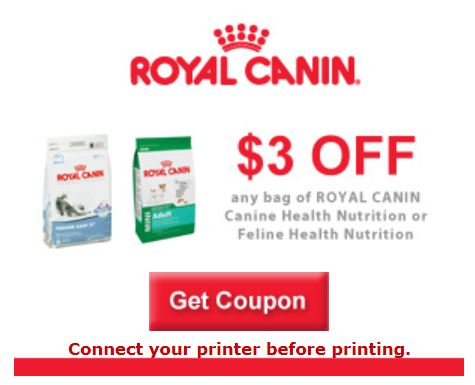 graphic about Royal Canin Printable Coupon known as Royal Canin: Fresh 3/1 printable coupon! - PennyWisePaws