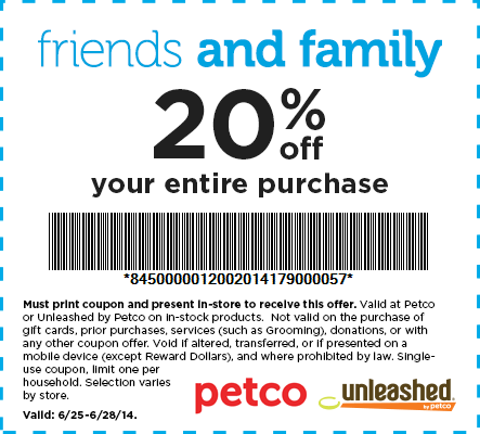Petco discount coupon