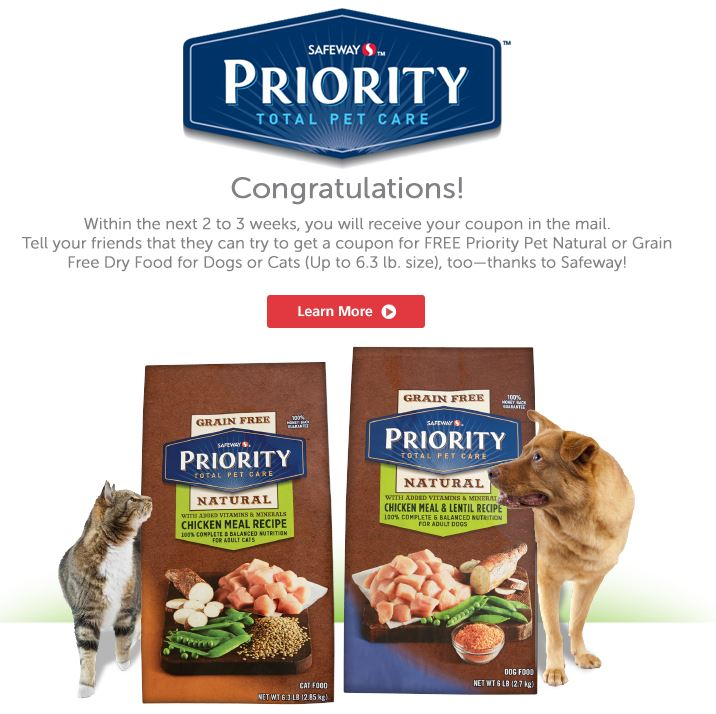 Priority Pet Dog Food