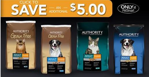 photograph about Printable Pet Coupons named Petsmart: $5/1 Authority doggy foodstuff printable coupon! Cat foods