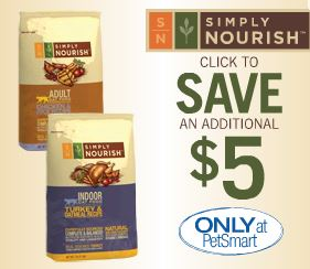 petsmart coupons for simply nourish dog food