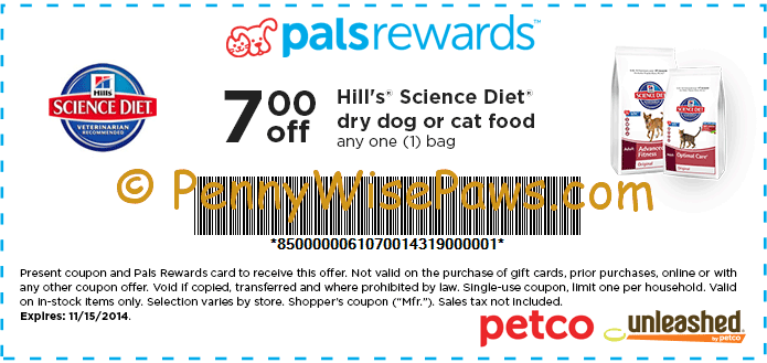 Petco: High Value $7/1 printable coupon for Hill's Science ...