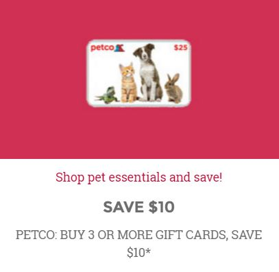 petco gift card discount