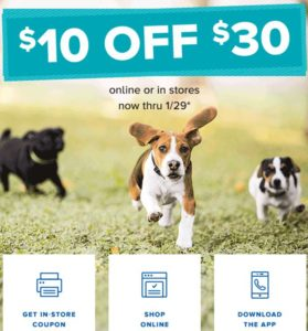 Petsmart January 2017 coupon