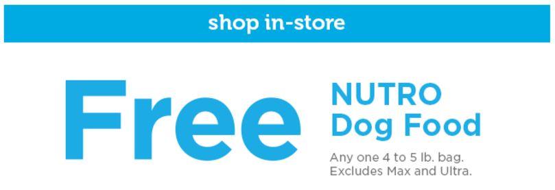 Petco Free Nutro Dog Food Coupon