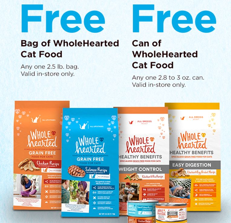 Petco Free Whole Hearted Cat Food Check Your Email